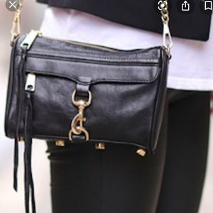 Rebecca Minkoff black MAC crossbody leather bag